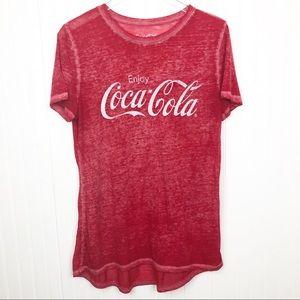 Coca Cola Burnout Tee